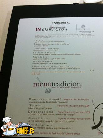 cartas y menús de restaurantes en valencia