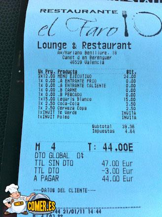 cuentas restaurantes de valencia