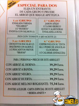 cartas de restaurantes en valencia