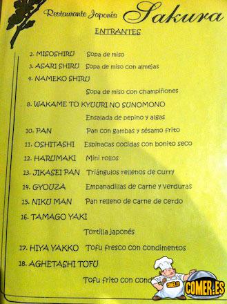 menus en restaurantes de valencia