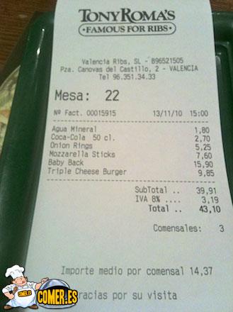 precios de restaurantes de valencia