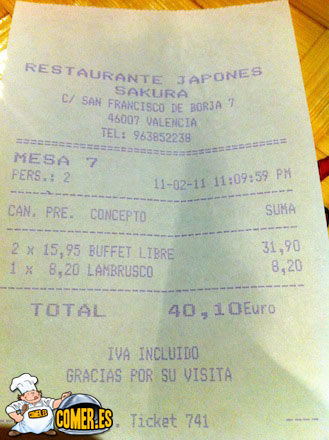cuentas de restaurantes en valencia